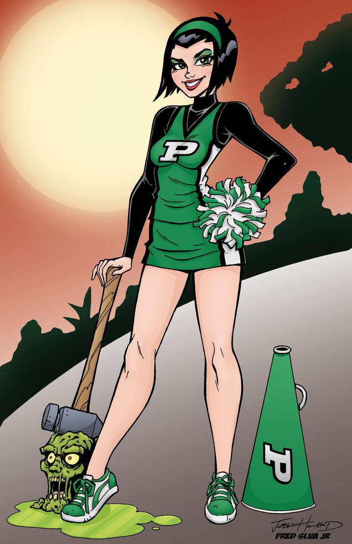 Cheerleader Pin Up By Josh Howard by Luzproco on DeviantArt