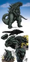 New Godzilla by Matt Frank