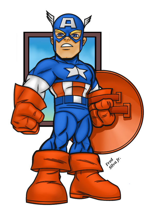 SuperHero Squad Captain America by Luzproco