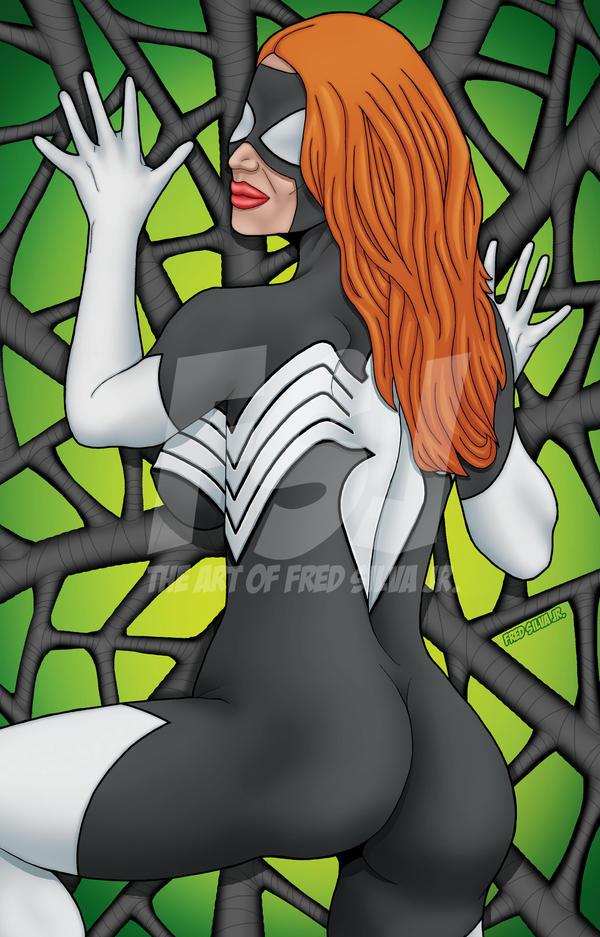 Spider-Woman Black Costume by Luzproco