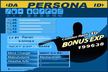 Raven Persona 3 Silhouette