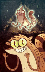 Bill Cipher Takes Rigby