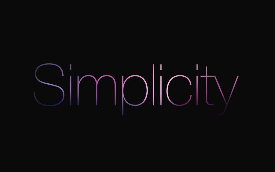 Simplicity Wallpaper by olanmatt on DeviantArt  Simplicity Wallpaper