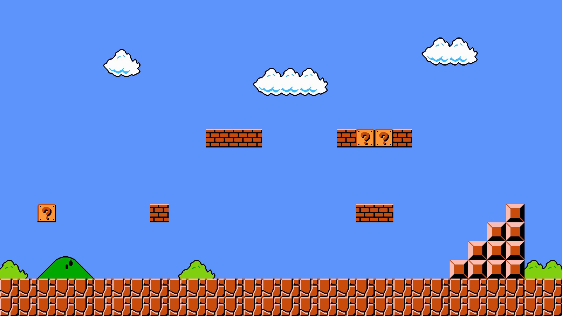 Super Mario Bros 1 1 Wallpaper Hd Flat By Wougie89 On Deviantart