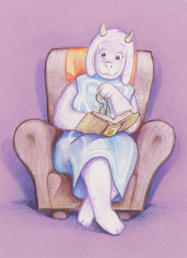 Toriel reading by SeWoRig