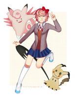 Doki Doki Literature Club x Pokemon: Sayori by Die-Valquiria