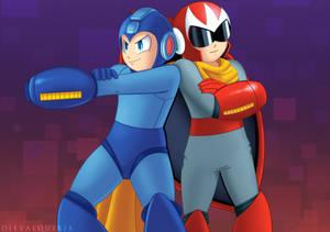Megaman x Protoman [Commission]