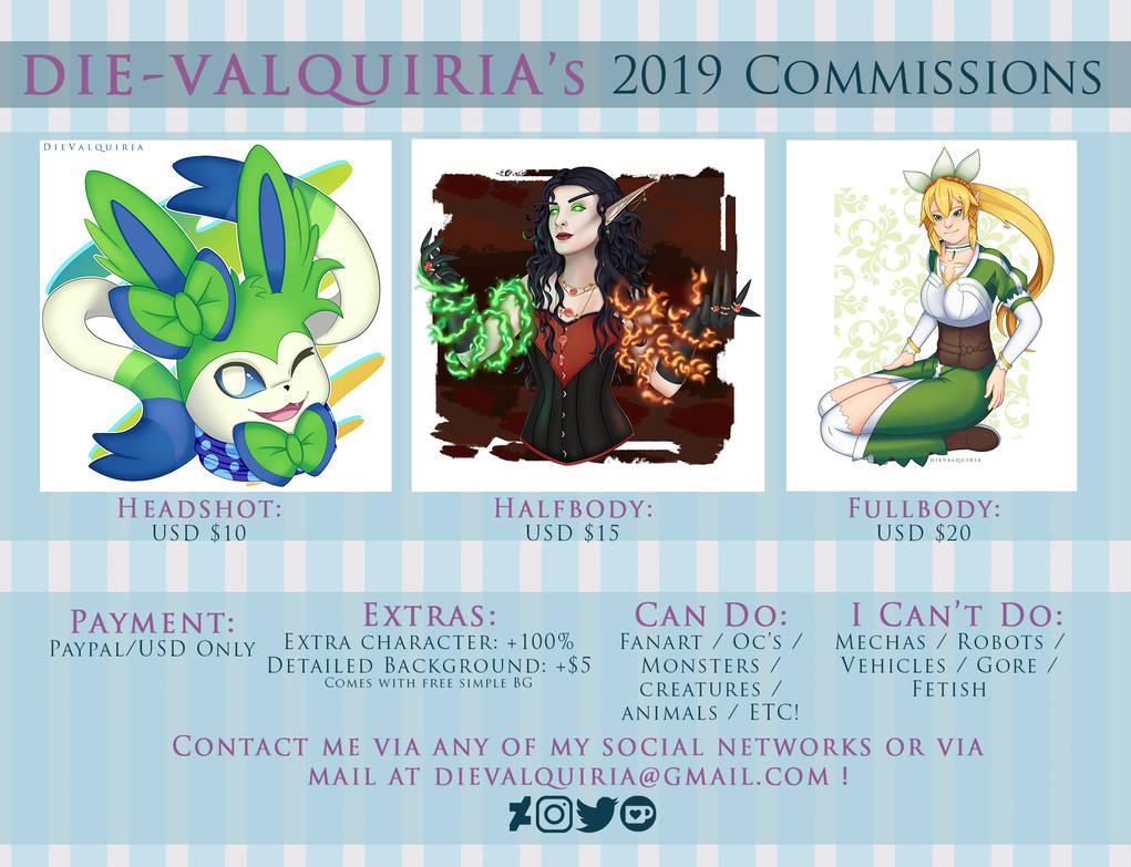 2019Commissions by Die-Valquiria
