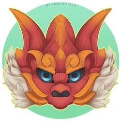 Odogaron Palico Mask by Die-Valquiria