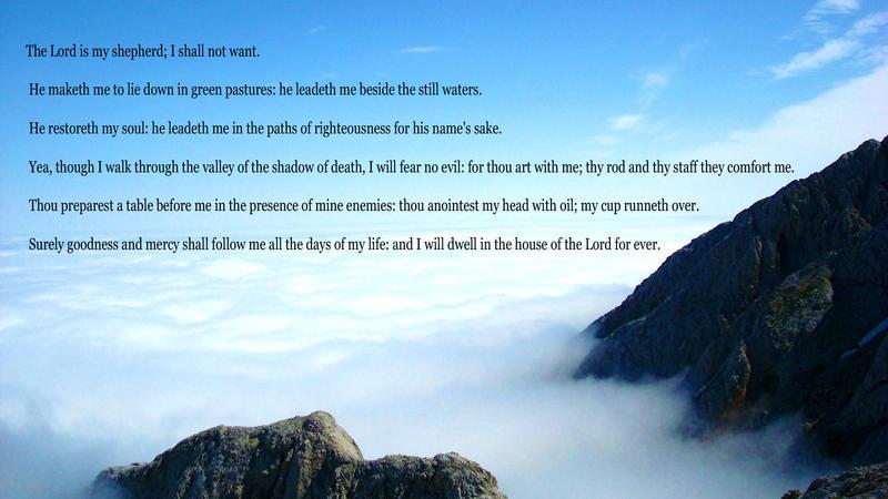 Psalm 23 by DPCloud01