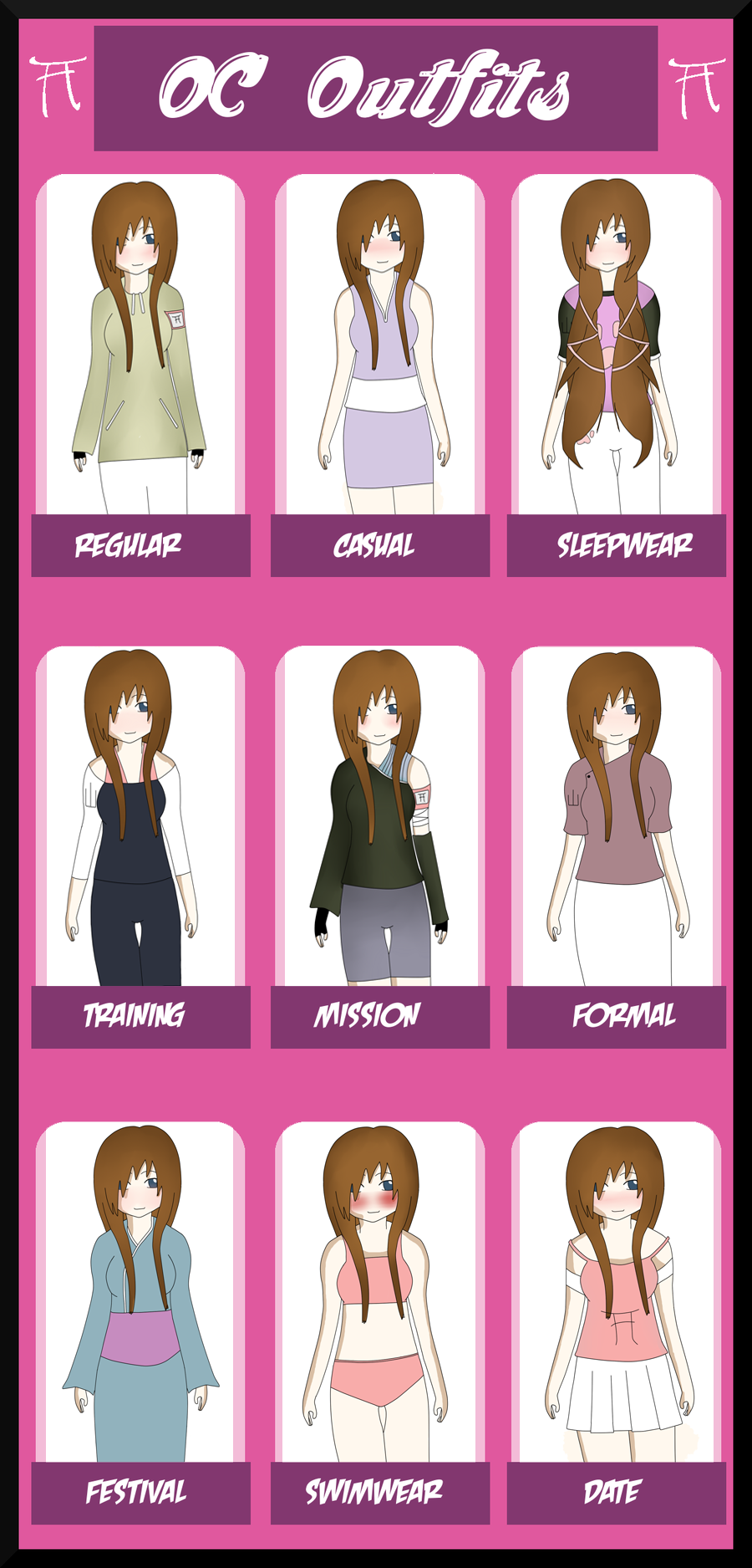 HSV: Naoki Outfit Sheet by MiyuKyuu