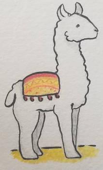 Llama Drama by BAWDrawz