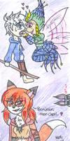 Some rainbow snowcone and foxy lady