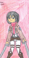 First drawing of Mikasa
