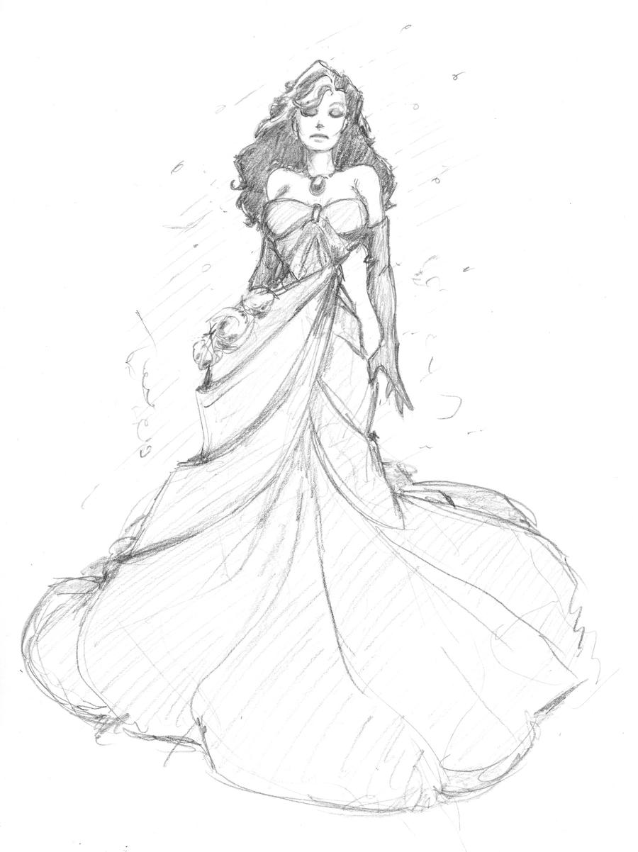0222 daily doll - woman in gown by JohnRose-Illustrator on DeviantArt