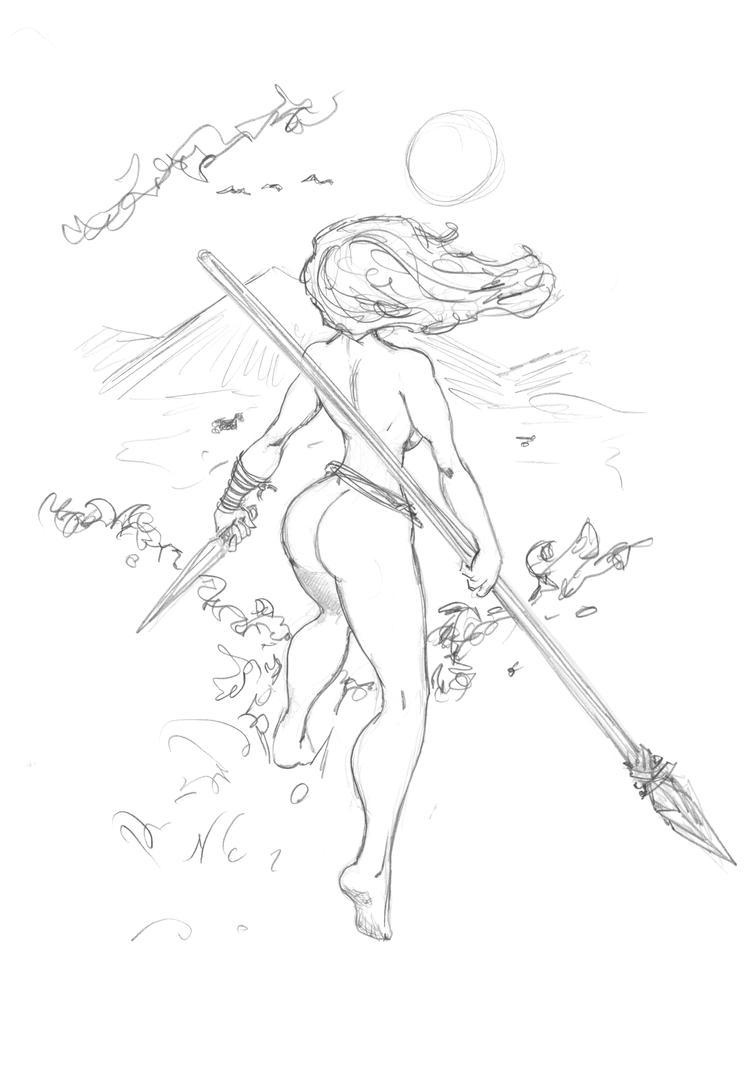 121114 Jungle Girl by JohnRose-Illustrator