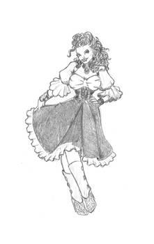 032218 Steampunk / Western Girl
