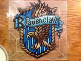 {Perler} Ravenclaw House Crest by OddishCrafts