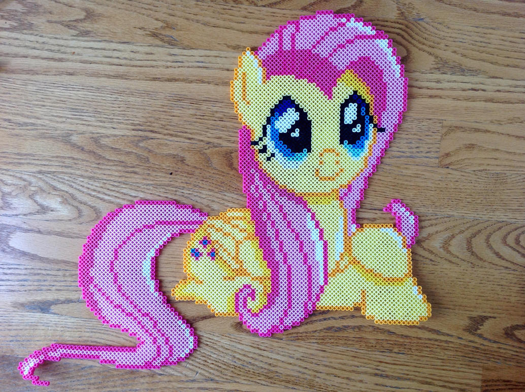 {Perler} Fluttershy Being Cute by OddishCrafts