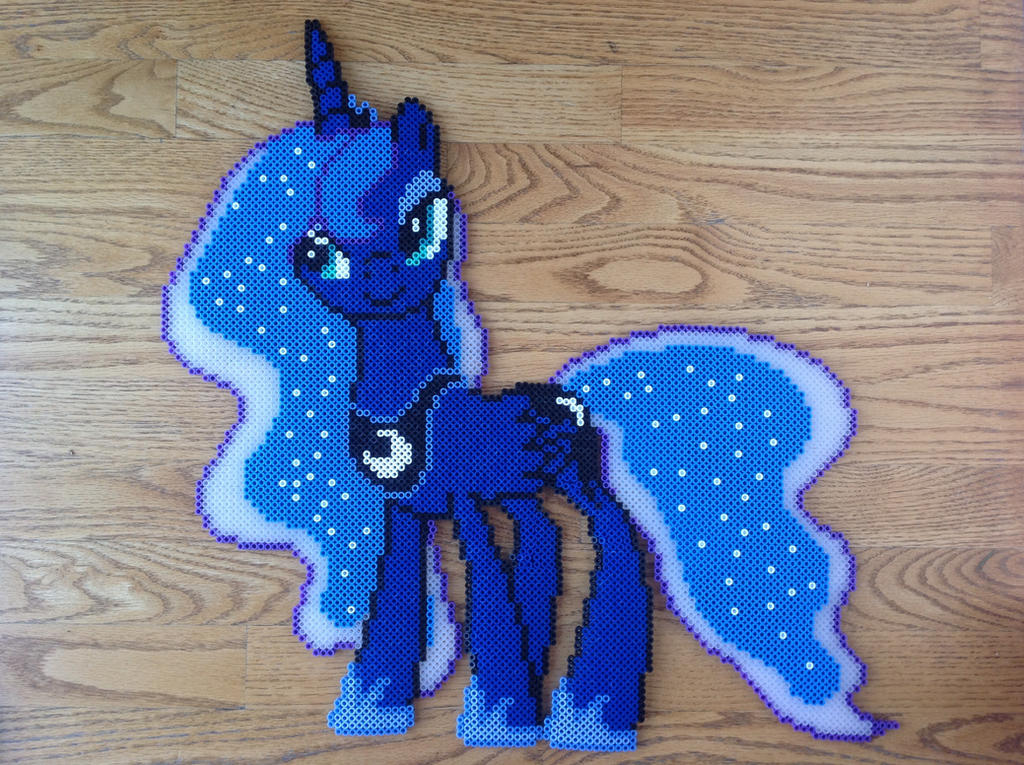 {Perler} Princess Luna Looking Somewhat Seductive by OddishCrafts