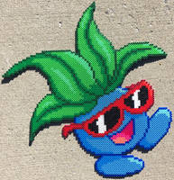{Perler} Oddish is a RADdish by OddishCrafts