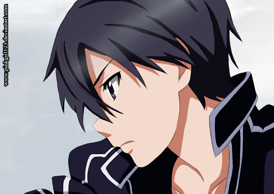 kirito - Sword art online by PinkGirl123
