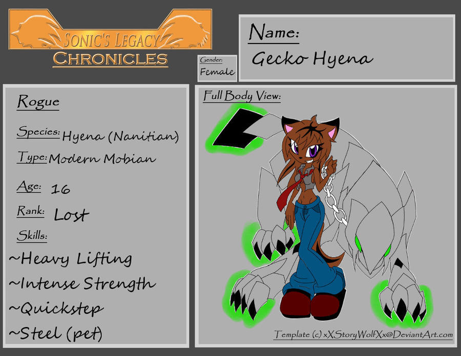 Gecko Hyena SLRPC by ShadeOokami