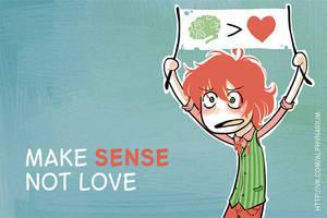 make sense, not love by alphyna