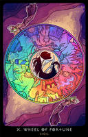 Planescape: Tarot. X. Wheel Of Fortune by alphyna