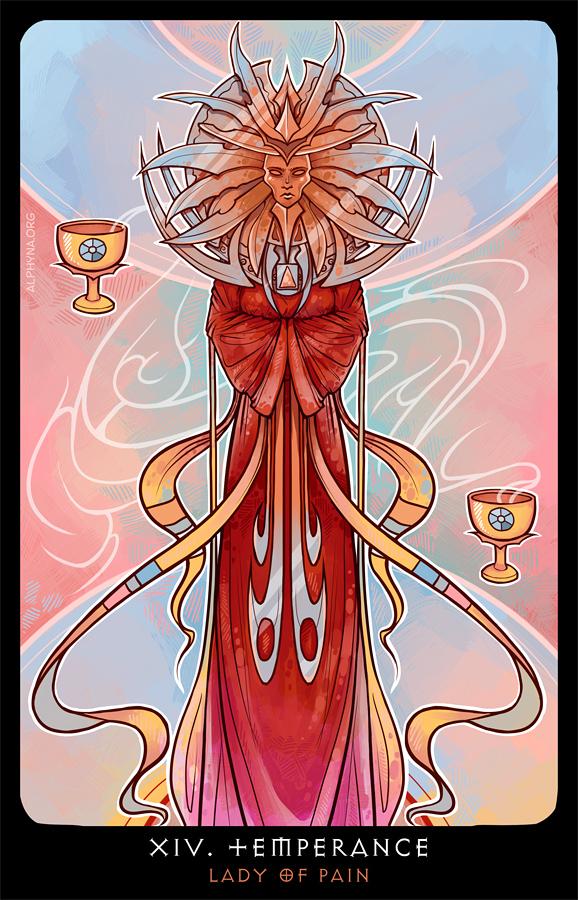 Planescape: Tarot. XIV. Temperance by alphyna