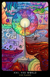 Planescape: Tarot. XXI. The World by alphyna