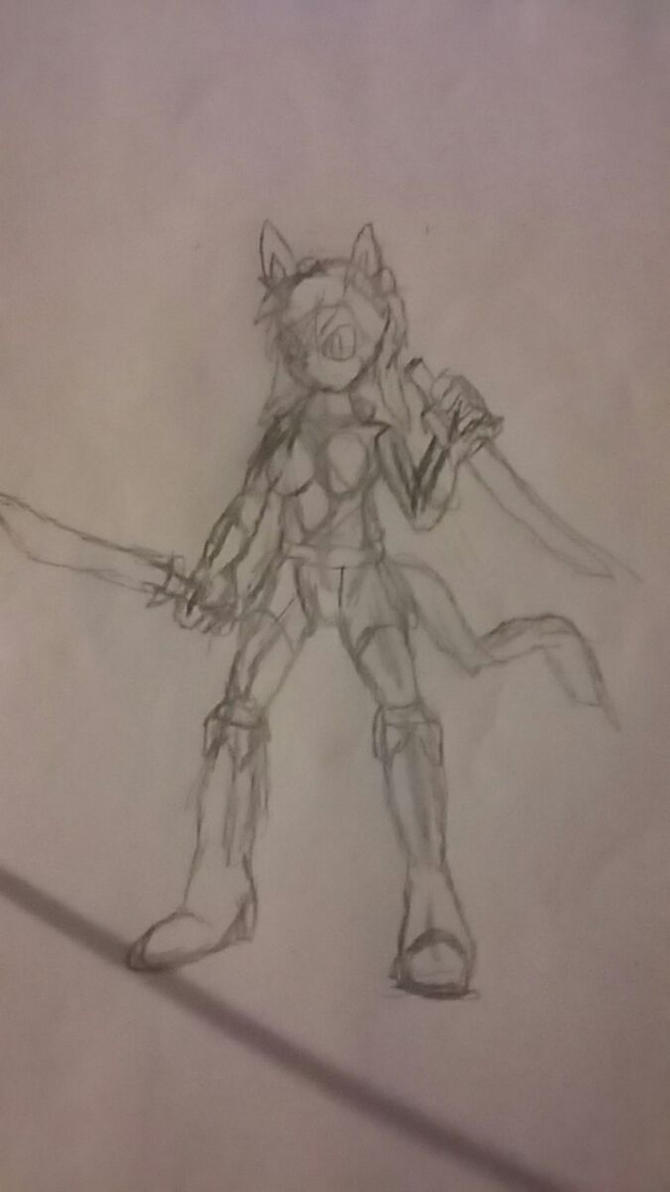 Novayen Female Sketch by JonicOokami7