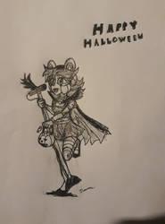 Spooky Singin (Sketch) by JonicOokami7