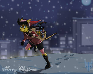The Sneaky Santa by JonicOokami7