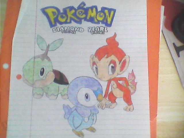 Pokemon diamond and pearl starters