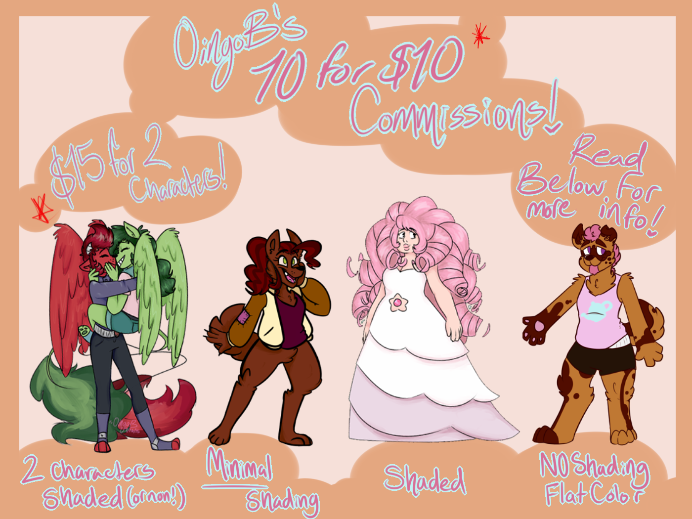 OingoB's 10 for $10 Commissions! by OingoB