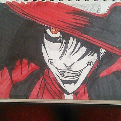 Alucard Drawing, Prismacolor by RedDragon979