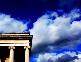 Temple of art 4 Acidic sky by CorsoDomenic