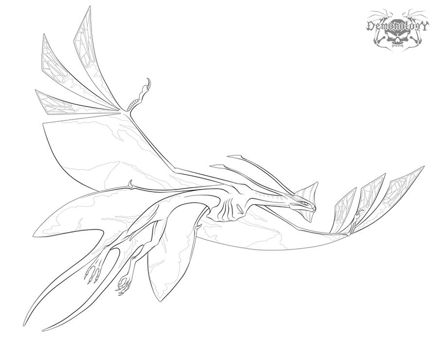 Toruk-Leonopteryx lineartstock by Karioudo: www.deviantart.com/browse/all/fanart/?view_mode=2&order=9&q...