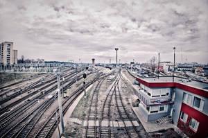 Rail tracks by BenKodjak