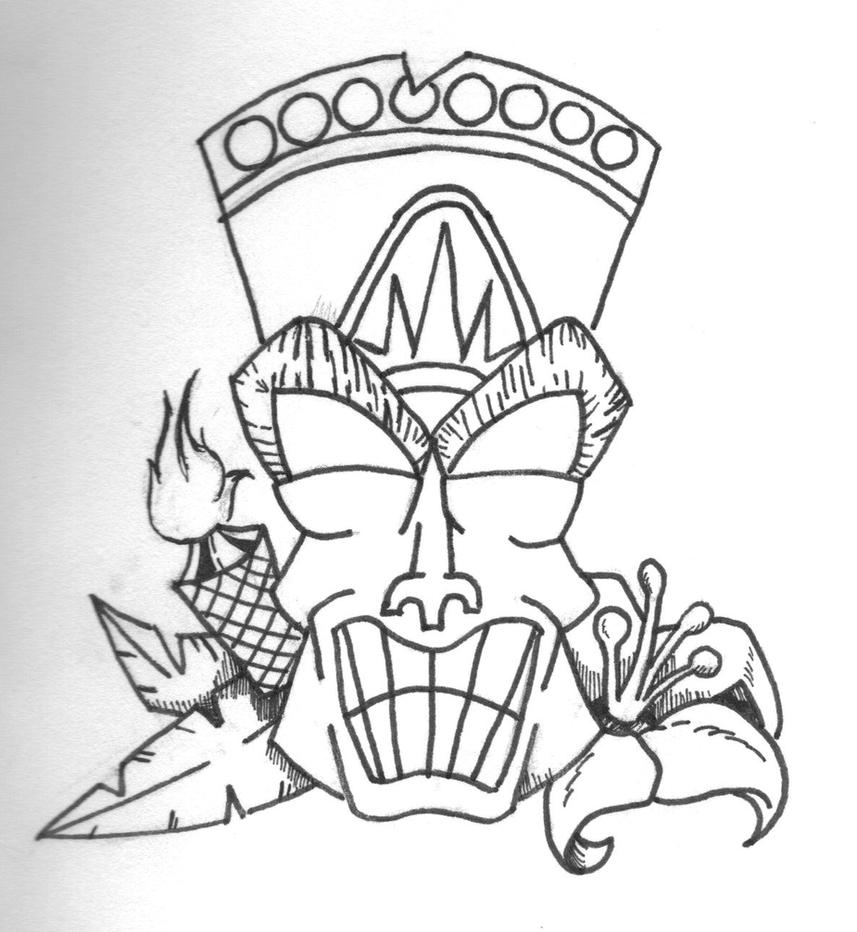 Tiki Face Drawing Viewing Gallery
