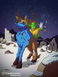 A merry Yule to y'all! by travellustrator
