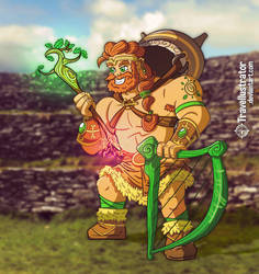 The Dagda - The Good God by travellustrator
