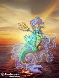 Manannan mac Lir - Son of the Sea. by travellustrator