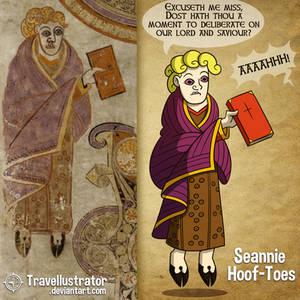 Weirdies From the Book of Kells: Seannie Hoof-Toes