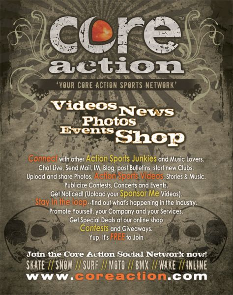 Core Action Magazine Ad by B00MER