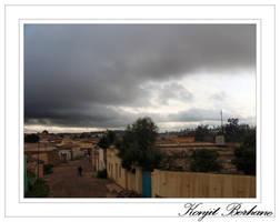 dark clouds hoverin Asmara