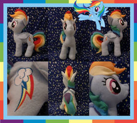 Rainbow Dash Plushie by Meowplease