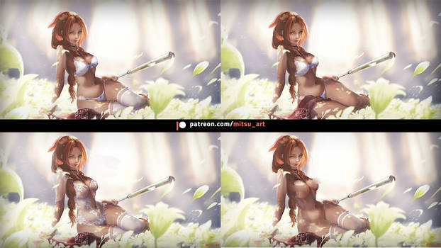 Aerith all version by MitsuArt-official