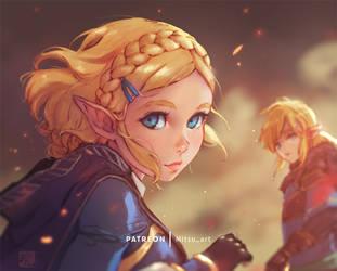 [BotW2] Zelda's last look before facing danger by MitsuArt-official
